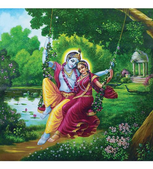 The Love Of Radha Krishna 2515 Wallskin
